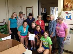 Volunteers at the 2013 Food Drive